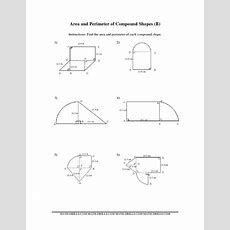 Compound Area Worksheets  The Area And Perimeter Of Compound Shapes (bb) Measurement Worksheet
