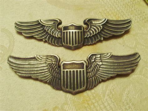 wwii  army air force pilot wings