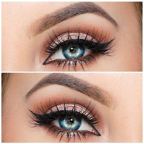 rock makeup  blue eyes easy makeup tutorials ideas pretty designs