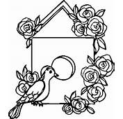 Decorating Bird House With Roses Coloring Pages  Best