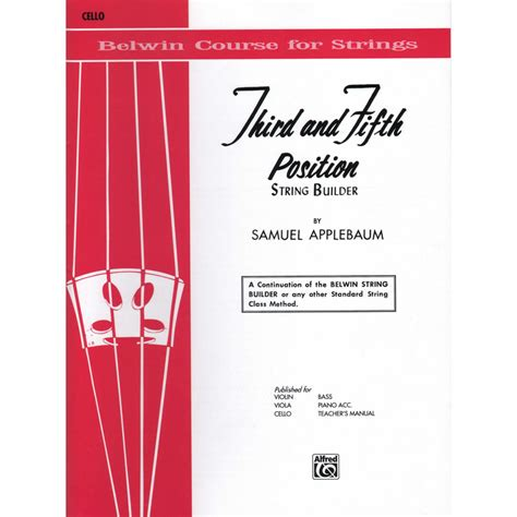 String Bild String Builder Third And Fifth Position Cello Alfred Shar Sharmusic