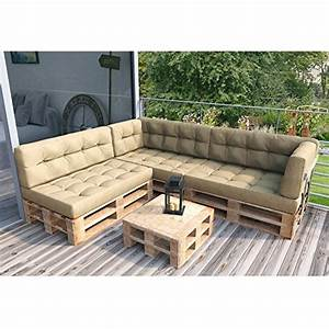 Paletten Couch Kissen : paletten lounge inkl kissen beige ~ Orissabook.com Haus und Dekorationen
