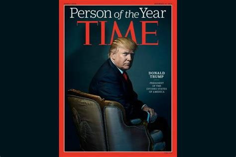 Time Names Trump Its Person The Year Top Magazine