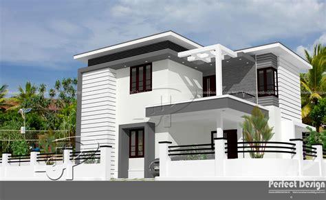 1442 sq ft modern double floor home kerala home design