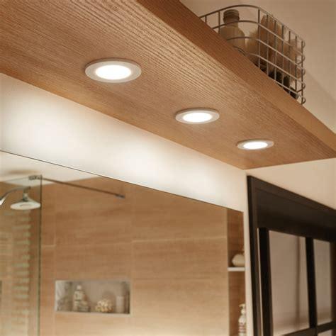 kit 3 spots 224 encastrer salle de bains bazao fixe inspire led int 233 gr 233 e blanc leroy merlin