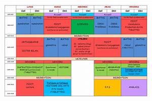 Les 4 Temps Horaires : nouveaux programmes horaires et emploi du temps ce2 ~ Dailycaller-alerts.com Idées de Décoration