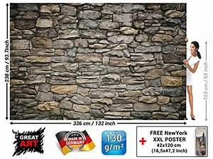 My Xxl Poster : free shipping grey stonewall photo wallpaper xxl mural stonewall design poster 132 3 inch x ~ Orissabook.com Haus und Dekorationen