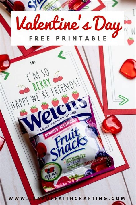 Valentine Fruit Snack Printable