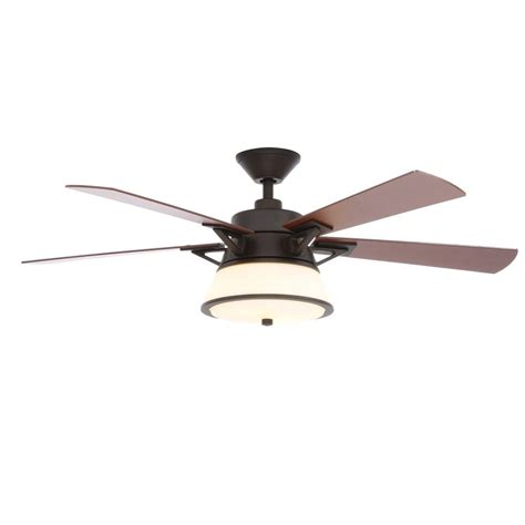 rubbed bronze ceiling fan light kit hton bay marlowe 52 in led indoor oil rubbed bronze