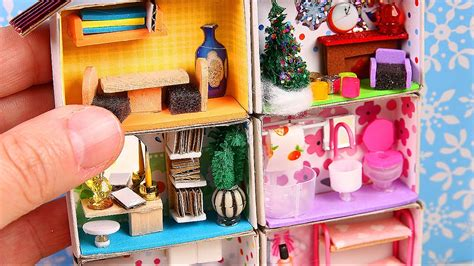 Diy Miniature Matchbox Dollhouse Tutorial  Youtube