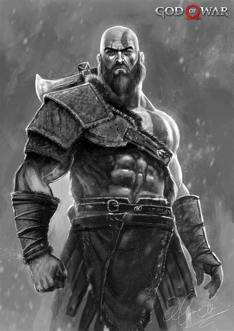 Artstation Kratos God Of War New Begining Hassan Ali