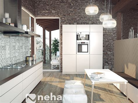 cr馘ence miroir cuisine credence imitation carrelage maison design bahbe com