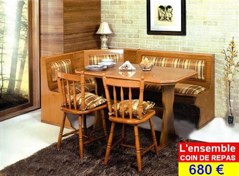 banquette angle coin repas cuisine mobilier with table