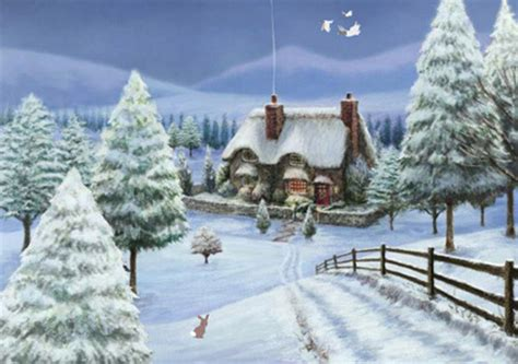 3d Snowy Cottage Animated Wallpaper Free - ecard snowy cottage ecard snowy