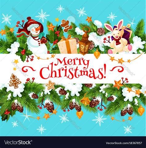 merry christmas holiday greeting card royalty free vector