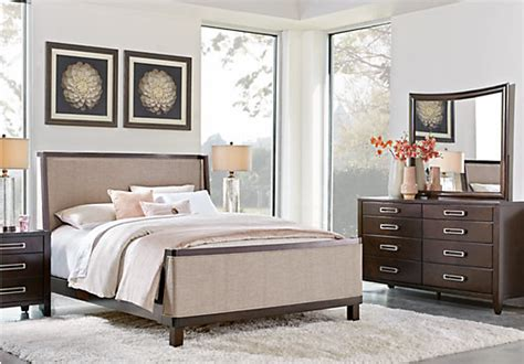 pics of bedroom colors affordable queen bedroom sets for sale 5 6 piece suites 16646 | br rm bellissimo java uph~Bellissimo Java 5 Pc Queen Upholstered Bedroom
