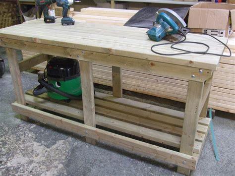 Solid Heavy Duty Workbench  Picnic Benches  Pub Garden