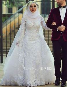 majestic white wedding ball gown with hijab for muslim With muslim wedding dress with hijab