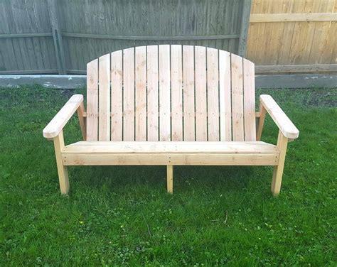 Pallet Adirondack Garden Bench  101 Pallets
