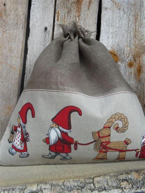scandinavian christmas gift bag holiday gift bag santa