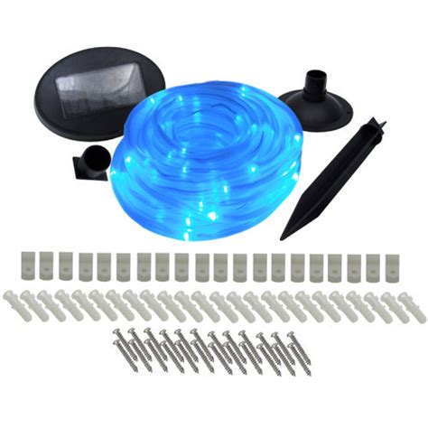 outdoor solar rope lights 100 blue led lighting