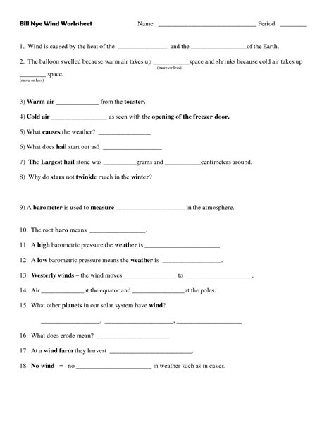 16 Best Images Of Bill Nye Moon Worksheet  Bill Nye Atmosphere Worksheet, Bill Nye The Science