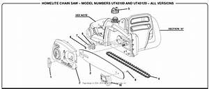 Homelite Ut43120 Electric Chain Saw Parts Diagram For