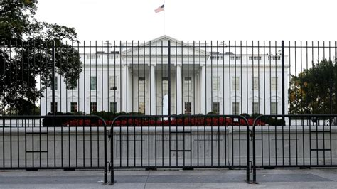 house security fence white house briefly on lockdown after drone spotted flying nearby officials say abc news