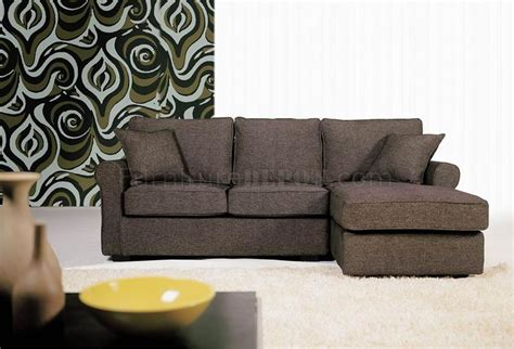 Small Brown Sectional Sofa by Contemporary Small Sectional Sofa In Brown Fabric