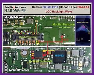 Huawei P8 Lite Display Light Ways Backlight Jumper Solution