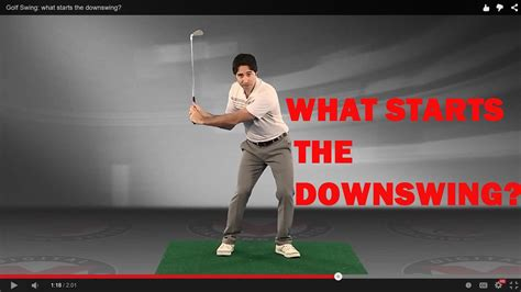 Golf Swing Sequence Tip: What Starts the Downswing? - YouTube