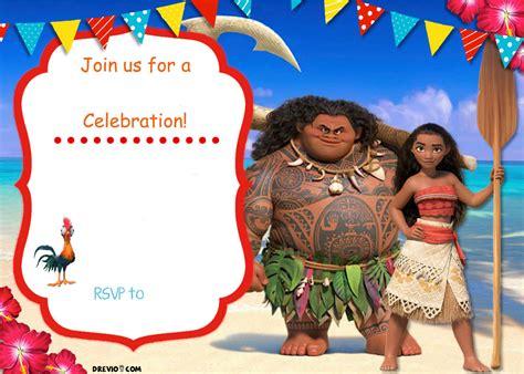 moana birthday invitation template free moana birthday invitation template free invitation templates drevio