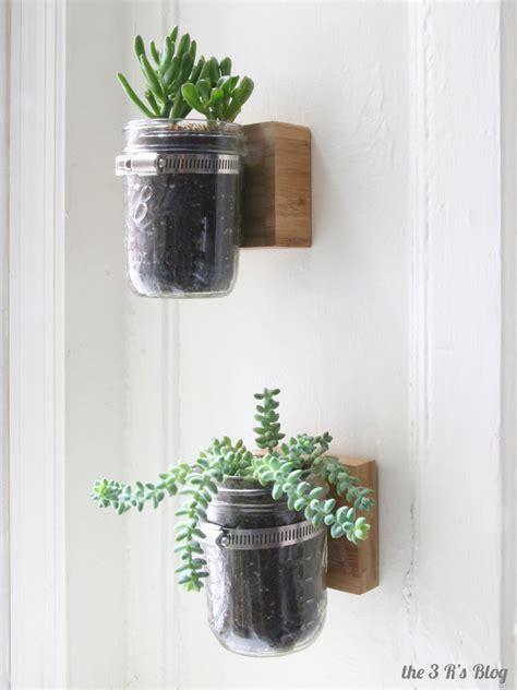 jar wall planter hanging jar planter the 3 r s