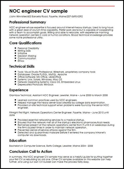 Noc Engineer Cv Sample  Myperfectcv. Printable Spreadsheet For Bills Template. Notebook Template For Word Image. Anniversary Message To Boyfriend Long Distance. Small Business Expenses Template. It Survey Questionnaire Sample Template. Resumes For Nursing Assistant Template. Themes For Microsoft Office Template. Template For Job Application Cover Letters Template