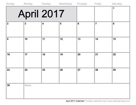 Excel Monthly Work Schedule Template April 2017 Calendar Excel Calendar Printable Free