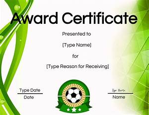 Template Create Free Soccer Certificate Maker Edit Online And Print At Home