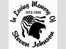 Eagle Flag Designer Series Decals In Loving Memory Car