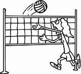 Volleyball Coloring Pages Printable sketch template
