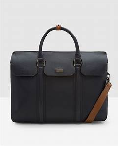 ted baker luxury leather document bag in blue for men lyst With ted baker leather document bag