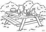 Picnic Coloring Table Clipart Pages Printable Ausmalbild Ausmalen Ausmalbilder Drawing Supercoloring Picnics Under Activities Picknick Colorings Games sketch template