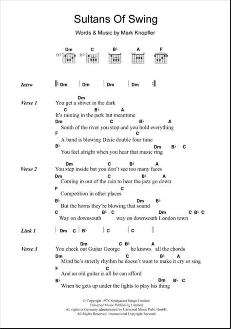 sultans of swing guitar sultans of swing guitar chords lyrics zzounds