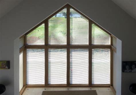 triangle  apex window blinds  shutters avanti shaped
