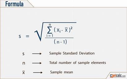 Deviation Standard Statistics Formula Calculator Sample Population