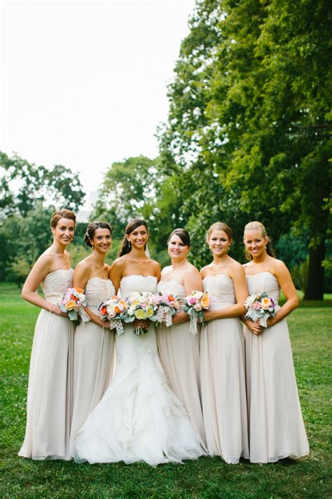 Taupe Bridesmaids  Ee  Dresses Ee   Elizabeth Anne Designs The
