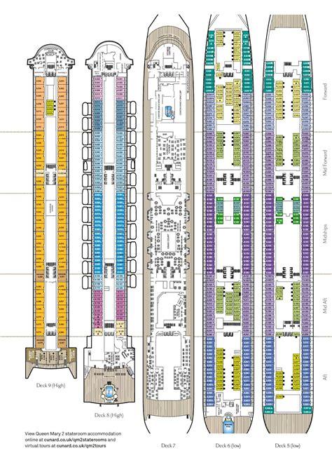 Cunard Cabin Layout by Qm2 Deck Plan Ebook