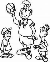 Basketball Coloring Players Playing Printable Familyfriendlywork Pokemon sketch template