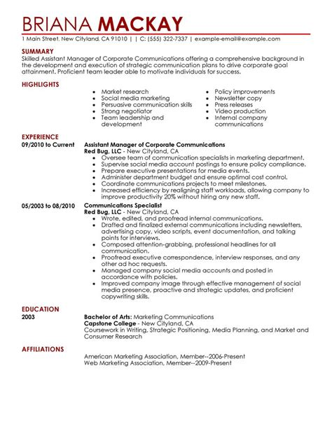 Contemporary Resumes Exles by Best Assistant Manager Resume Exle Livecareer