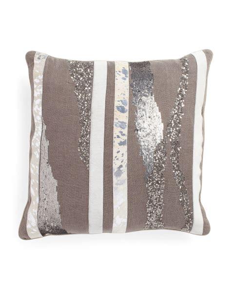 22x22 cow hide applique pillow home t j maxx