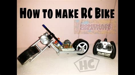 How To Make Rc Motorcycle At Home Easy And Fast Youtube