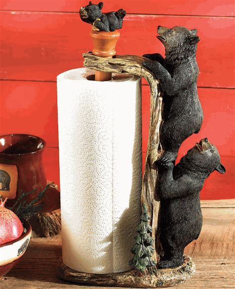 Black Bear Paper Towel Holder